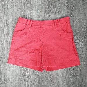 Anthropologie coral shorts. Size 4.